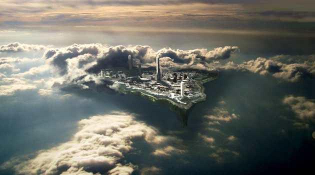 Hidden City in Clouds