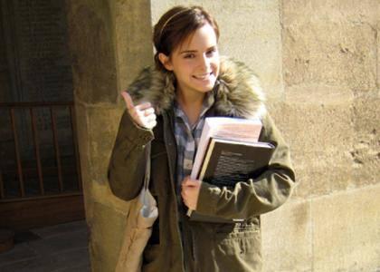 Now Meet Emma Watson at Oxford University