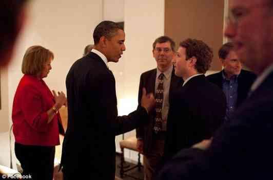 Mark Zuckerberg with barak obama