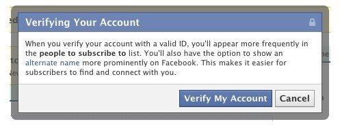 Facebook- profiles and certificates nickname