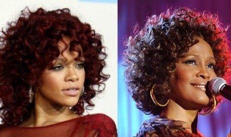 Rihanna Frontrunner to play Whitney Houston