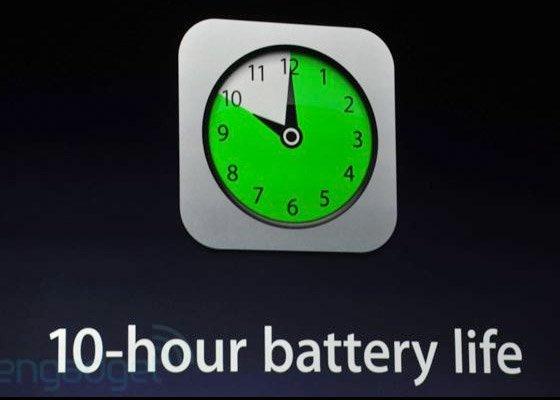 New iPad-battery