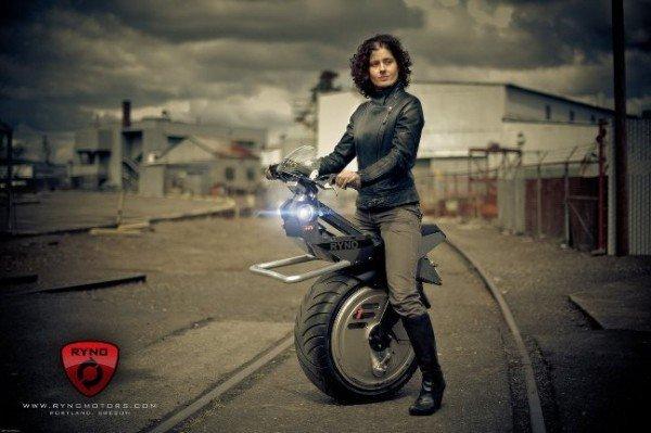 Ryno Unicycle - The World`s First One Wheel Bike