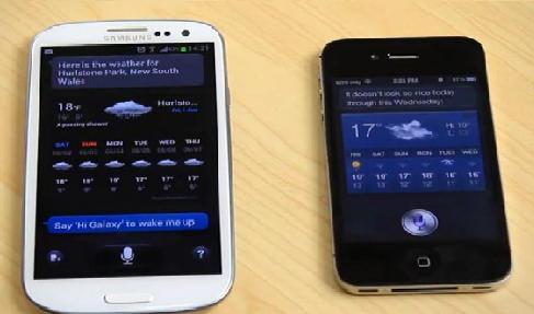 Apple Siri vs Samsung S-Voice (Video)