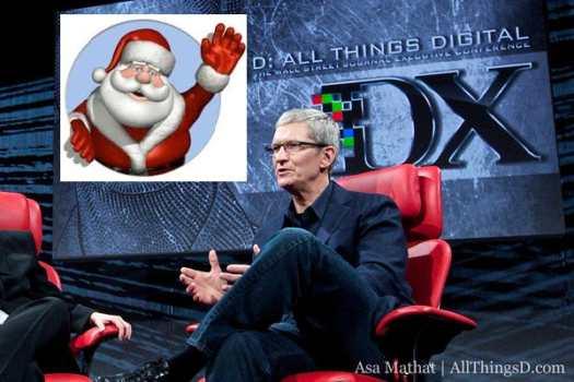 Apple CEO Tim Cook as Santa Claus? (Video)  2