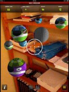 Augmented Reality Based 3D Ball Invasion Game for iPad.