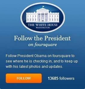 Follow President Obama on Fourfquare