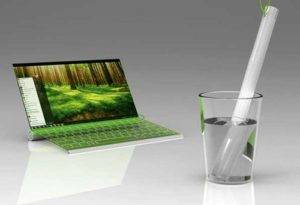 EnvoFriendly Laptop 'Drinks Water to Live'