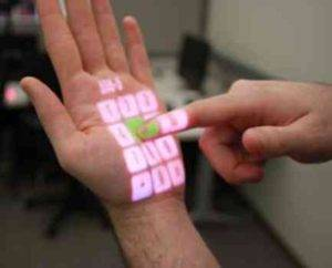 holographic touch screen on your palm