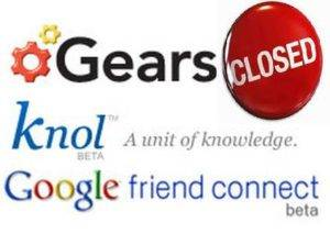 Wave, Friend Connect and Gears Closed by Google