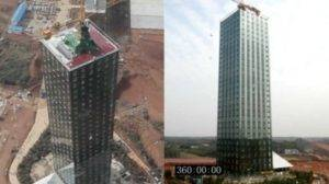 Chinese Architects Built 30 Floors in 15 Days