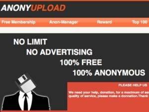 Megaupload has a Successor- Anonyupload