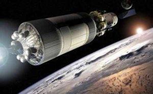 Twins Craft in Orbit Around the Moon