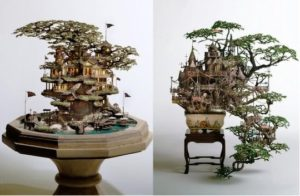 Amazing Models of Castles on Growing Miniature Trees