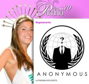 Anonymous, Attacked the Site of Miss Padania