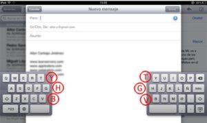 Hidden Keys on the Keyboard Divided iPad by Using iOS 5