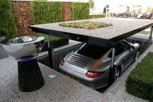 James Bonds Style Garage Allows More than One Car in the Same Place -1