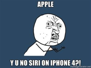 No Siri for iPhone 4 from Apple!