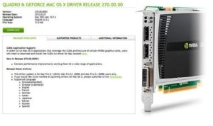 Nvidia has Released a New Version of its Drivers for the Mac Pro