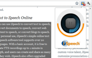 Select and Speak - Text to Speech Passes any Selected Text on Any site