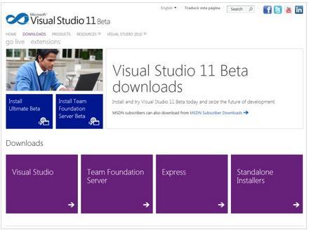 A First look at Visual Studio 11 Beta