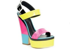 A colorful collection of Giuseppe Zanotti shoes