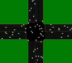 Cars without drivers - intersections without traffic lights
