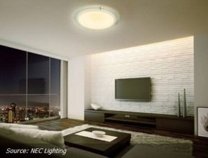 LED-lamp with integrated audio