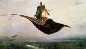 Magic Carpet Flies in The Sky