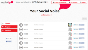 Record and Share Audio on Facebook and Twitter with Audiolip 1