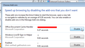 How to Disable Add-Ons in Internet Explorer to Gain Speed 1
