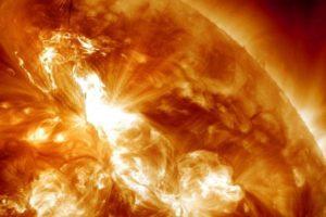 huge solar flare.
