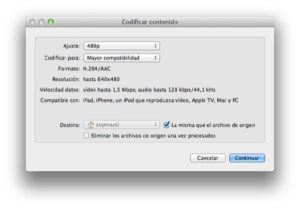 Encode Video Directly from the Finder in OS X Lion Mountain 1