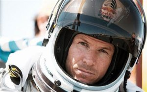 First Video from Camera into the Chest of Felix Baumgartner 1