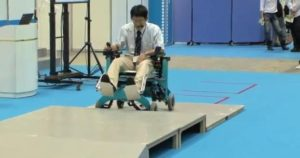 Robotic Wheelchair Climbs Stairs 1