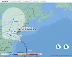 Hurricane Tracker: A Real Time Look at Path of Storm Sandy 1
