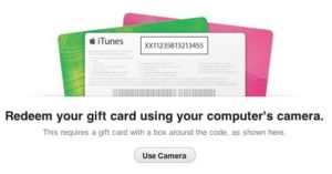 iTunes 11 Introduces the Ability to Enter the Codes of Gift Cards through Webcam! 1