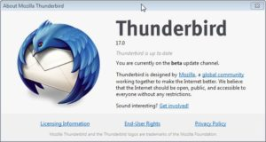 Thunderbird 17 and Extended Support Release 4