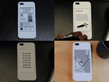 iPhone 5 With E-ink Screen on the Back with a Special Cover! (Video) 3