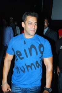 Salman's T-shirts With Handpick Drawings of ''Being Human'' 1